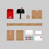 Postal communication service design elements Royalty Free Stock Photo