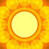 Postal con blowball de la flor del verano Fotografía de archivo libre de regalías
