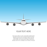 Postal con el aeroplano libre illustration