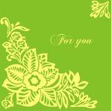 Postal con las flores Imagen de archivo libre de regalías