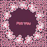 Postal con las flores Foto de archivo libre de regalías