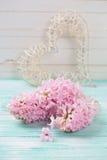 Postal con las flores Foto de archivo