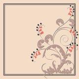 Postal con las flores abstractas stock de ilustración