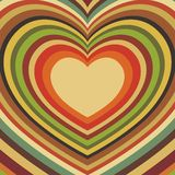 Postal con los corazones Fotografía de archivo libre de regalías