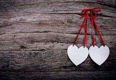Postal con los corazones Imagen de archivo