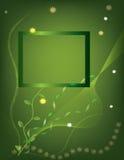 Postal con los fondos verdes stock de ilustración