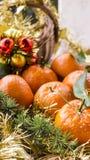 Postal con los mandarines Imagen de archivo