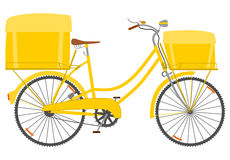 Courier bike. Postal or courier bike on a white background Stock Photos
