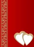 Postal - día de tarjeta del día de San Valentín Foto de archivo libre de regalías