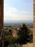 Postal de Assisi Fotos de archivo libres de regalías