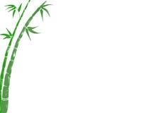 Postal de bambú afortunada Imágenes de archivo libres de regalías