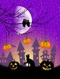 Postal de Halloween Foto de archivo libre de regalías