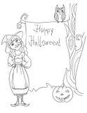 Postal de Halloween Imágenes de archivo libres de regalías