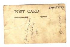 Postal de Joe WWII Imágenes de archivo libres de regalías
