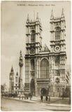 Postal de la abadía de Westminster Imagenes de archivo