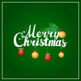 Postal de la caligrafía de las letras de la mano de la Feliz Navidad Imagen de archivo