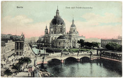 Postal de la catedral de Berlín Imagen de archivo