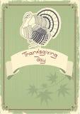 Postal de la decoración de la acción de gracias. Vendimia Fotos de archivo libres de regalías
