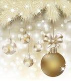 Postal de la Feliz Año Nuevo de la Feliz Navidad y Imágenes de archivo libres de regalías