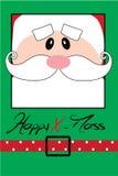 Postal de la feliz Navidad con Papá Noel Fotografía de archivo