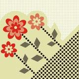 Postal de la flor Foto de archivo libre de regalías