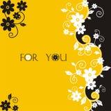 Postal de la flor Fotos de archivo libres de regalías