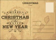 Postal de la Navidad Ilustración del Vector