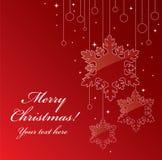 Postal de la Navidad Imágenes de archivo libres de regalías