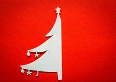 Postal de la Navidad del vintage con la Navidad de papel verdadera Imagen de archivo libre de regalías