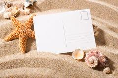 Postal de la playa fotografía de archivo