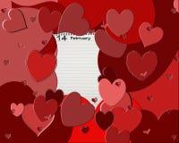Postal de la tarjeta del día de San Valentín Fotos de archivo libres de regalías