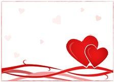 Postal de la tarjeta del día de San Valentín Imágenes de archivo libres de regalías