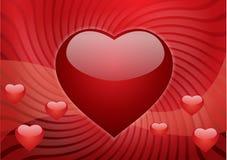 Postal de la tarjeta del día de San Valentín Fotos de archivo