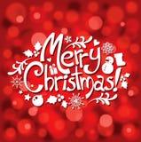Postal de la tipografía de la Navidad Imágenes de archivo libres de regalías