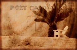 Postal de la vendimia Foto de archivo libre de regalías