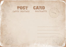Postal de la vendimia con un sello del amor Fotografía de archivo libre de regalías