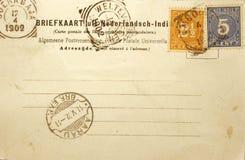 Postal de la vendimia de 1902 Fotografía de archivo libre de regalías