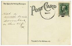 Postal de la vendimia del tiempo de la inflamación Fotografía de archivo libre de regalías