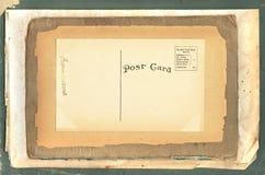 Postal de la vendimia en los papeles viejos Fotos de archivo libres de regalías