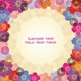 Postal de las flores Imagen de archivo libre de regalías