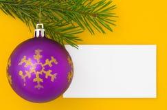 Postal de Navidad Imagen de archivo