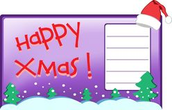 Postal de Navidad Imagenes de archivo