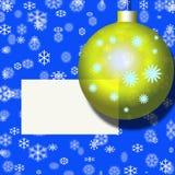 Postal de Navidad, bola, decoración Fotos de archivo