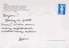 Postal de París Imagenes de archivo
