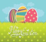 Postal de Pascua stock de ilustración