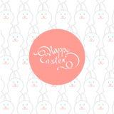 Postal de Pascua con una inscripción hermosa: Pascua feliz en el th Fotos de archivo