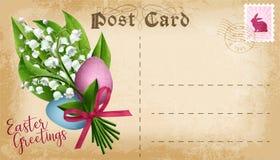 Postal de Pascua del vector Foto de archivo