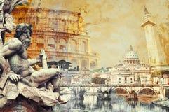 Postal de Roma fotos de archivo libres de regalías