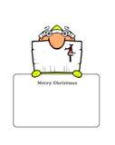 Postal de Santa lindo Fotos de archivo libres de regalías