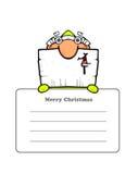 Postal de Santa lindo Imágenes de archivo libres de regalías